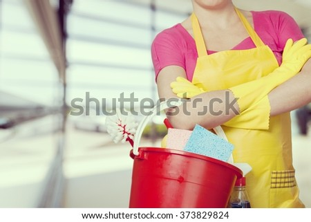 Cleaning. - stock photo