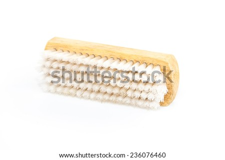 cleaning brush on white background