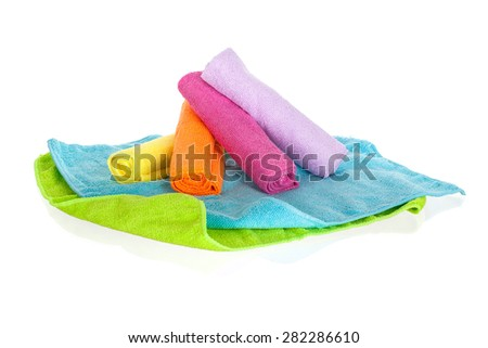 cleaning clothes isolated on white background