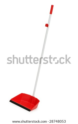 Cleaning dustpan isolated on the white background