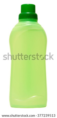 cleaning equipment isolated on a white background. colored plastic bottles with Detergent . Studio shooting. Set.