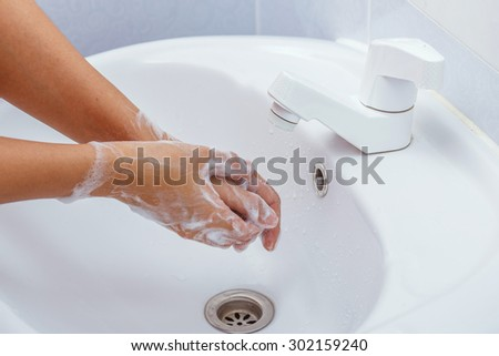 cleaning hand - stock photo