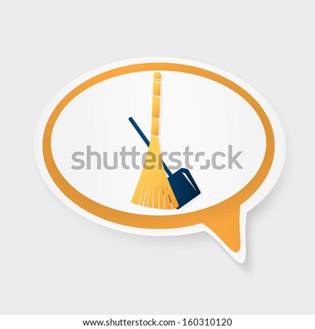 cleaning icon - stock photo