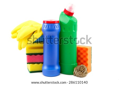 Cleaning isolated on white background. - stock photo