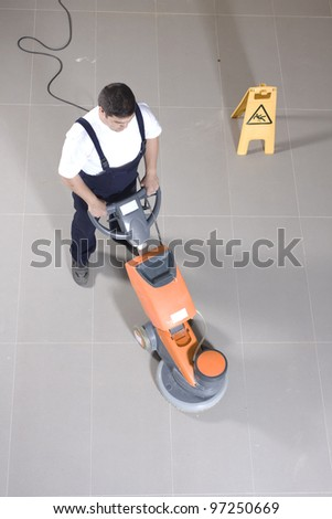 cleaning machine - stock photo