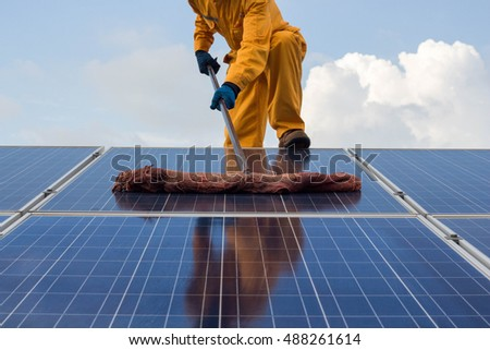 cleaning of solar panels.solar energy materials and solar cells.