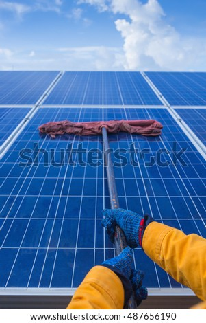 cleaning solar power