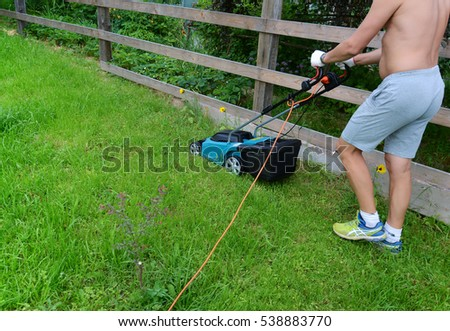Cleaning summer lawn