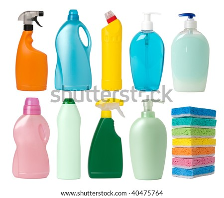 Cleaning supplies containers