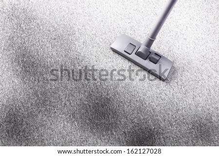 Cleaning very dirty carpet - stock photo