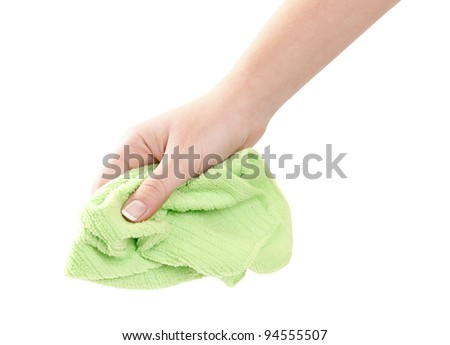 Cleaning with rag - stock photo