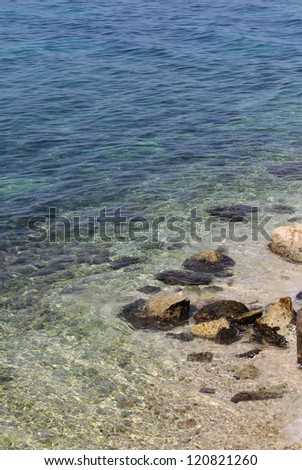 Clear Adriatic sea water