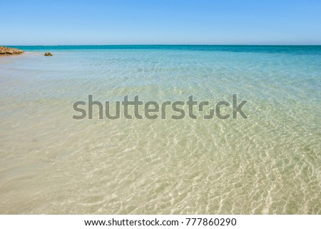 Clear and transparent waters of the lagoon