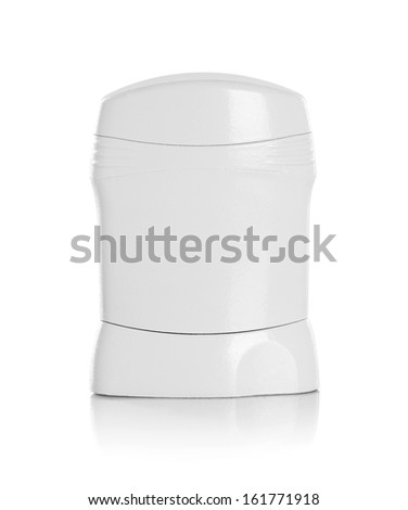Clear blank brands of the deodorant bottle isolated on white