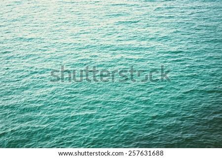 Clear blue sea  - stock photo