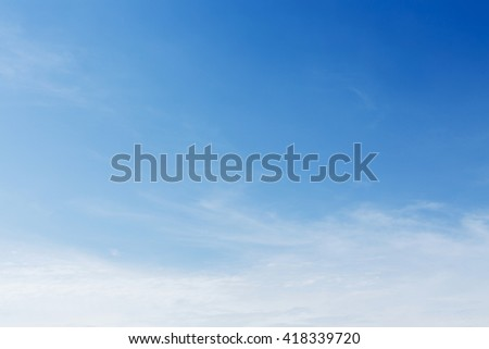 clear blue sky and cloud, cloudy summer background - stock photo