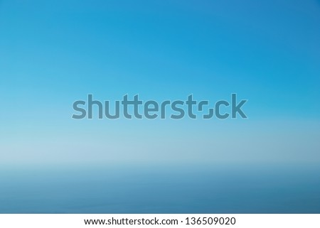 Clear blue sky can be used for background - stock photo