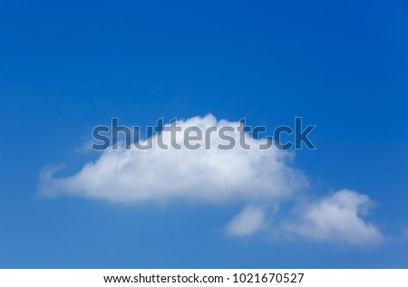 Clear blue sky with white clouds on good weather.