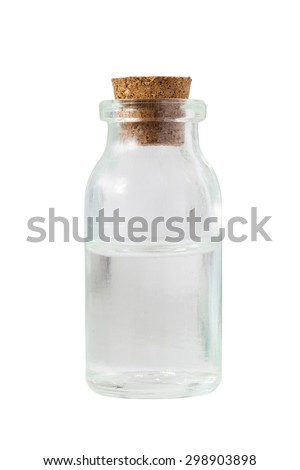 clear color old Apothecary Bottle isolate on white background