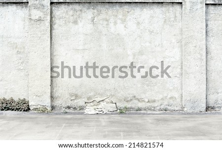 Clear empty high key photographer studio background. - stock photo