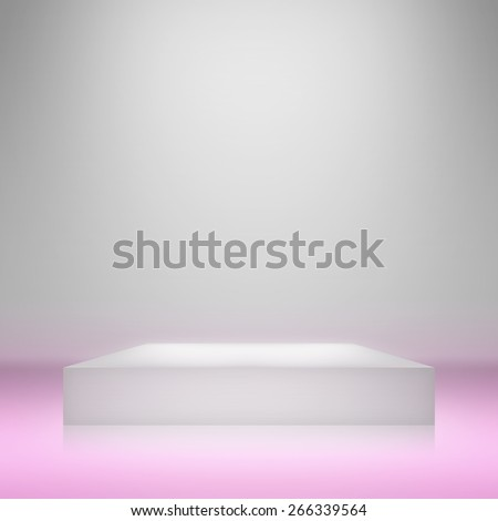 Clear empty photographer studio background with stand.