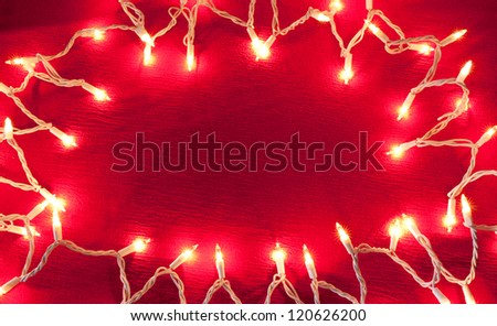 Clear lights on a red background - stock photo
