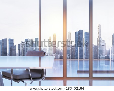 Clear modern office - stock photo