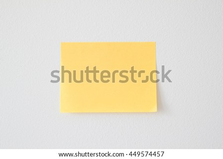 Clear noted pad on white background