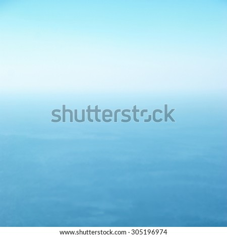 Clear sea and blue sky can be used for background - stock photo
