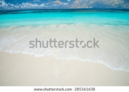 Clear sea beach blue sky and white sand in Koh Tachai island Thailand