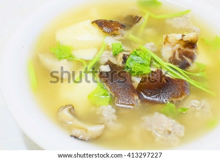 Clear Soup with Bean Curd and Minced Pork