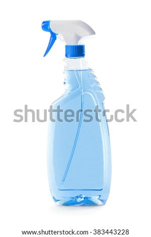 Clear Spray Bottle isolated on a white background. - stock photo