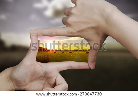 clear vision of a sunset - stock photo