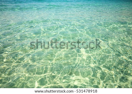 Clear water near the coast of Atlantic ocean resort.