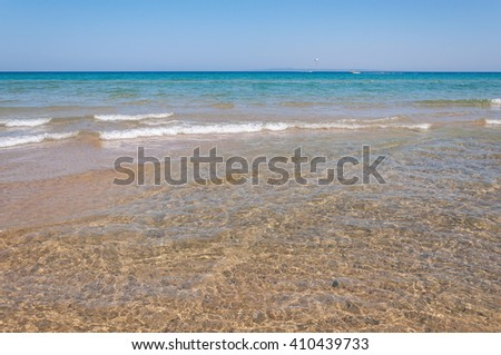 Clear water of a sea shore as natural travel background
