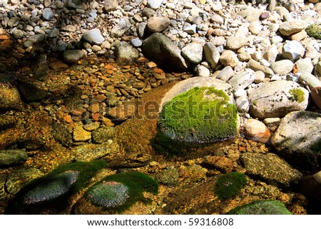 clear water on rock