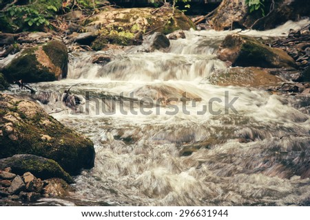 Clear Water Stream river in mountains Landscape scenic view ecology concept - stock photo