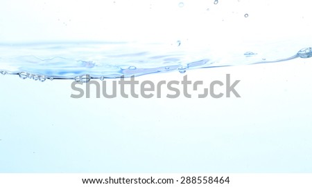 Clear water waves - stock photo