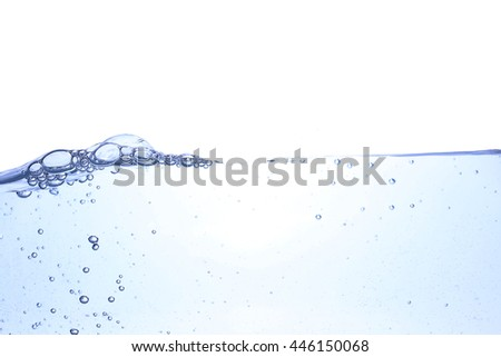 Clear water waves white background.