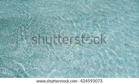 clear water with wave, island beach close up , summer theme background