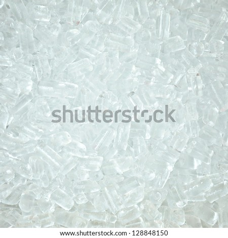 Clear white ice cube background - stock photo