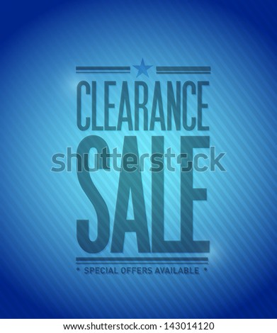 clearance sale concept illustration design graphic background