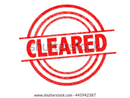 CLEARED Rubber Stamp over a white background.