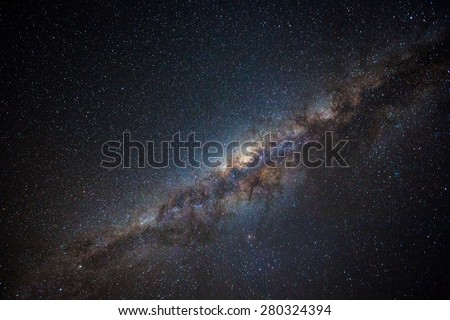Clearly milky way found in Australia outback.  - stock photo