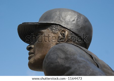 Clemente Statue Detail at Baseball Park in Pittsburgh