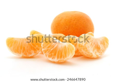 Clementine oranges over white background - stock photo
