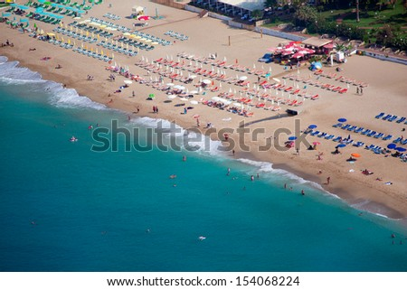 Cleopatra Beach, Alanya Turkey - stock photo