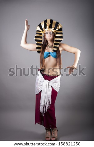 cleopatra. dance like a egyptian - stock photo