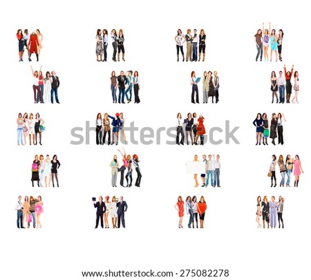 Clerks Compilation Isolated Groups  - stock photo