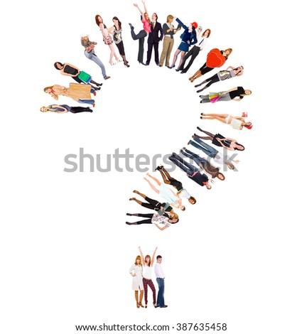 Clerks Compilation People Diversity  - stock photo